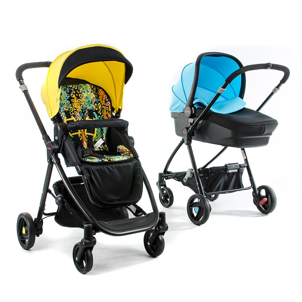 Ranger Pram Two Colours Yellow and Blue