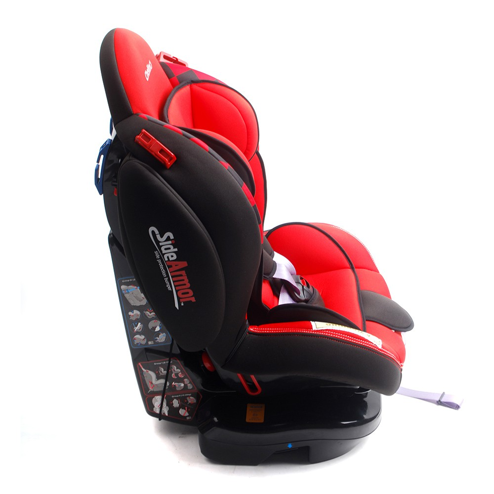 Red Atlantis Car Seat Side View