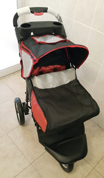Red and Black Platinum Jogger Baby Pram