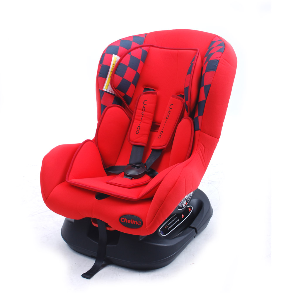 Red with Black Check Blazer Car Seat