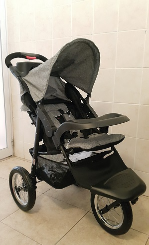 Soft Grey Jogger Baby Prams