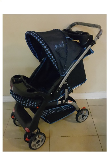 Standard Curve Reversible Polka Dot Blue Prams