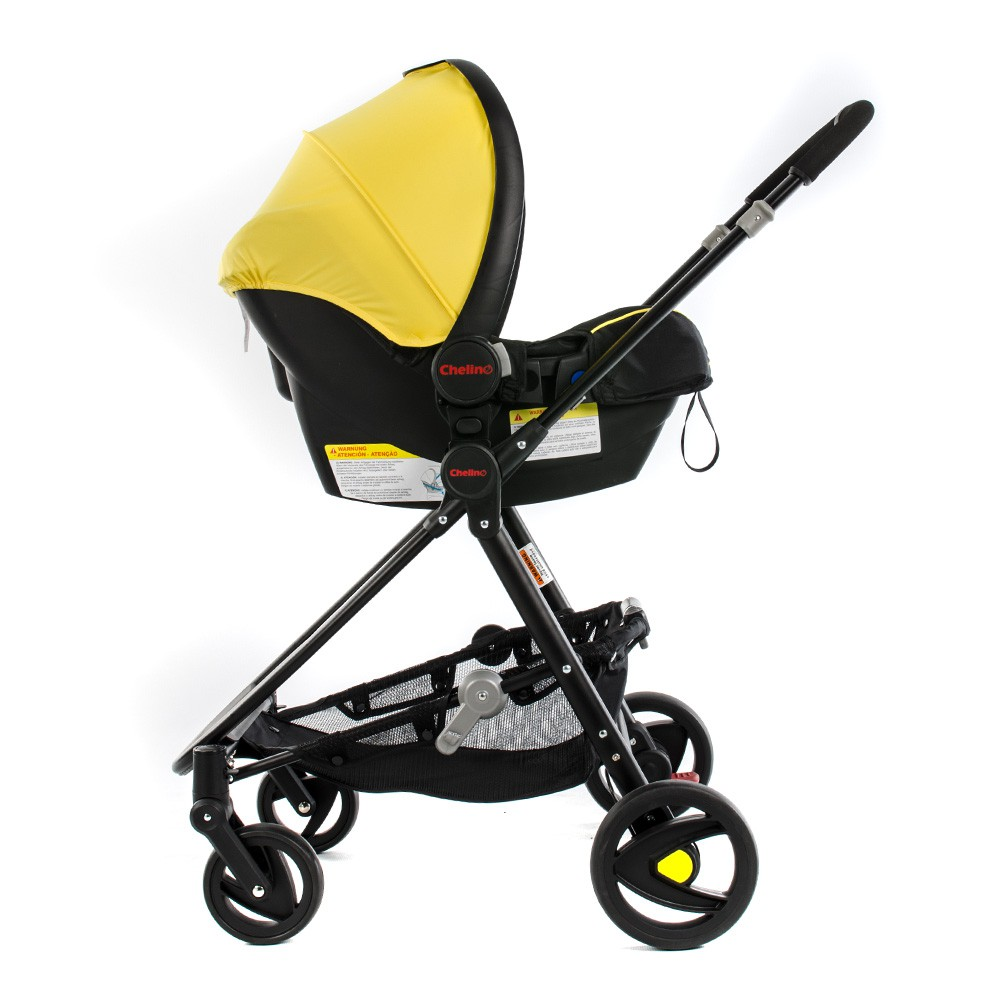 Ranger Pram with Car Seat Fitted