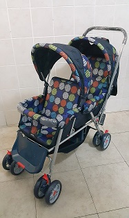 Twin Baby Prams Rainbow Colours