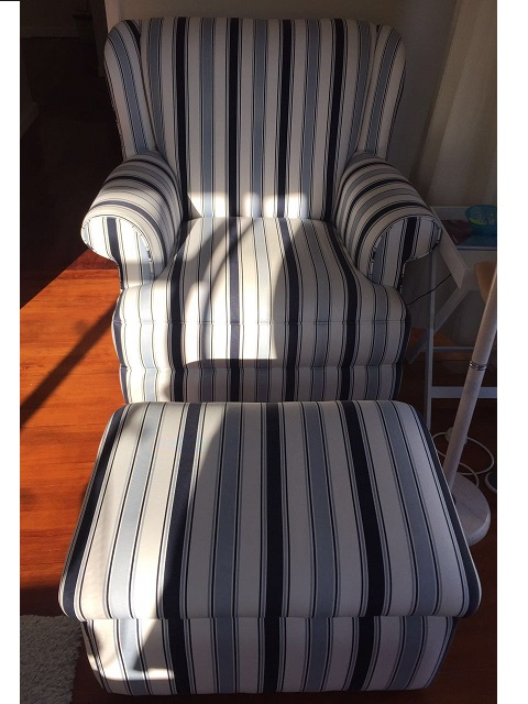 Wide Rocking Chair with FootStool