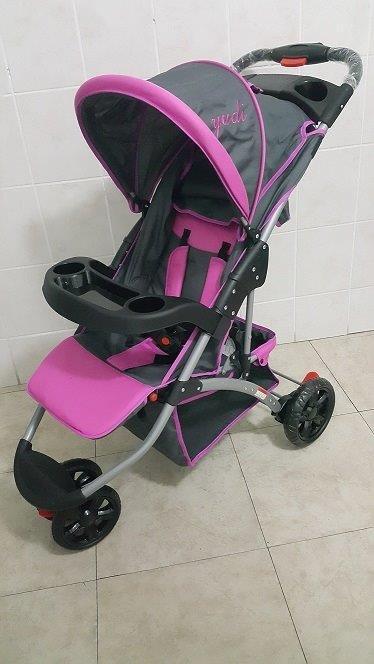 Yudi Large 3 Wheeler Baby Pram Stroller