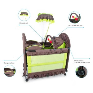 6 in 1 Camp Cot Green