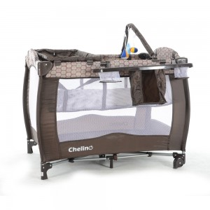 Siesta Brown Circle Baby Camp Cot