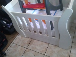Top View of Cute Sleigh Baby Cot