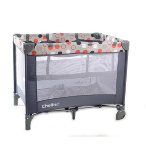 Lilo Red Circle Baby Camp Cot