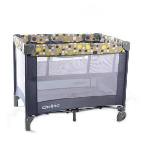 Lilo Yellow Square Baby Camp Cot