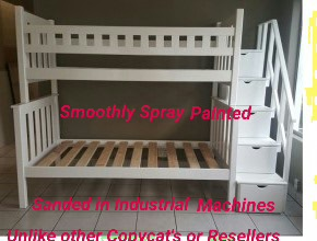 Our Beds is Smoothly Sanded and Sprayed in Extractor Fume Booths