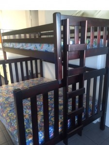 Country Style Wooden Tri Bunk Bed