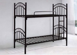 Black Steel Double Bunk Bed