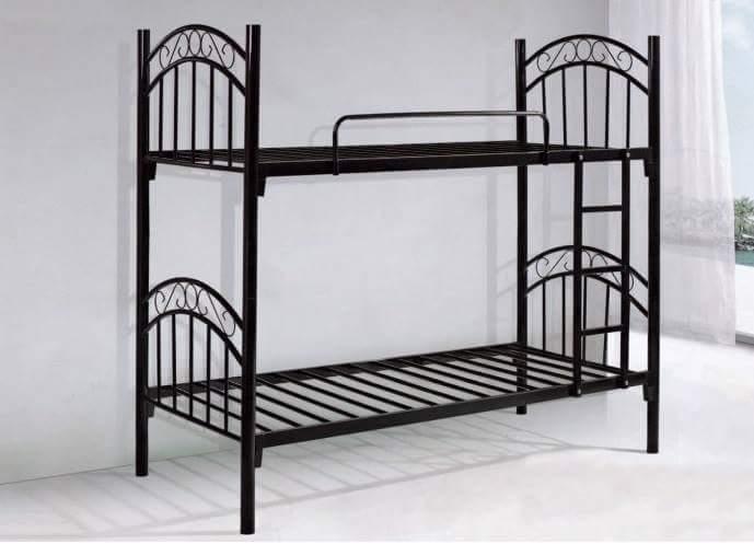 Black Steel Double Bunk Bed