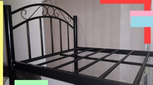 Designer Black Scroll Double Bunk Bed