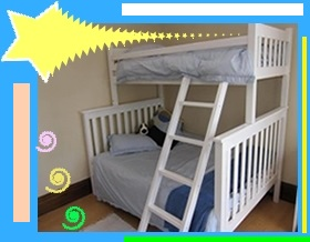 Slatted Tri Double Bunk Beds Bunk Bed
