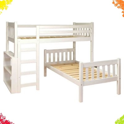 Standard Vertical Slatted Headboard Bunk Beds