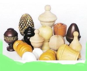 Wooden Finials Or End Caps