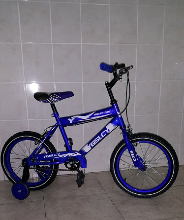 16 Inch Bicycle in Blue with Training Wheels