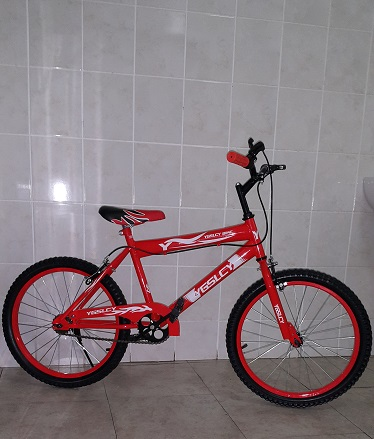 20 BMX Inch Bicycle in Orange Red with Training Wheels