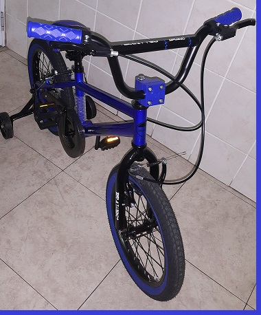 BMX 16 inch Blue Entry Level Trick Bicycle