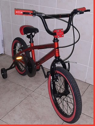 BMX 16 inch Orange Bronze Entry Level Trick Bicycle