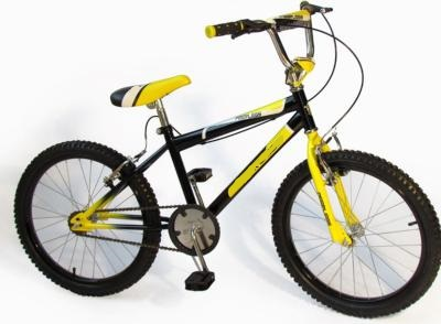 Black and Yellow 20 inch BMX Bike