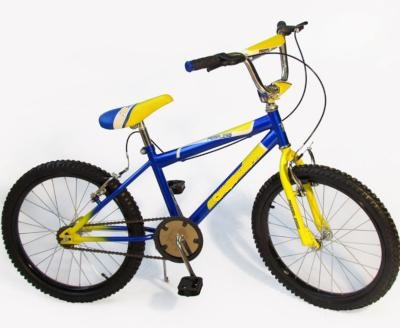 Blue and Yellow 20 Inch High Handle Bar Bikes