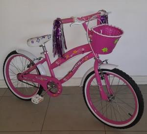 Floral Pink Twenty Inch Bicycle