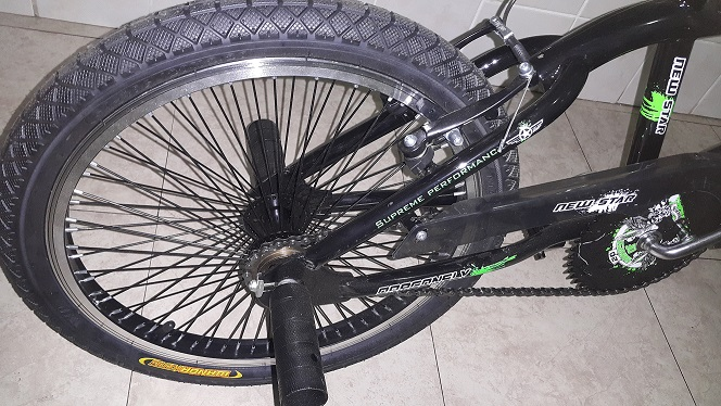 Full Performance Green Black Trick BMX 20 inch Back Wheel
