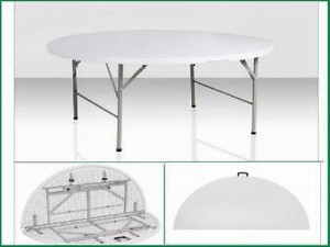 Round Heavy Duty Blow Moulded Plastic Tables