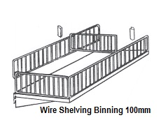BCS Wire Shelving Binning 100mm