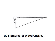 BCS Bracket For Wood Shelves