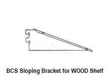 BCS Sloping Bracket For Wood Shelves