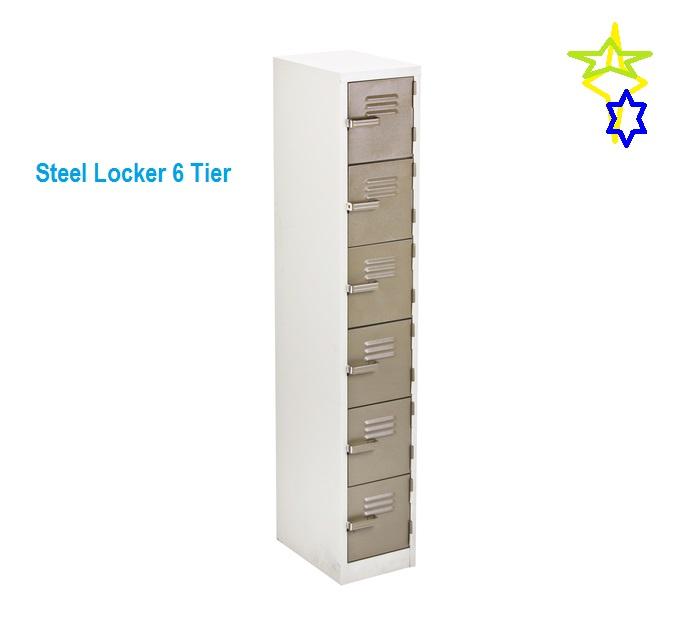 Various Steel Locker 6 Tier Karoo or Grey Colour Range