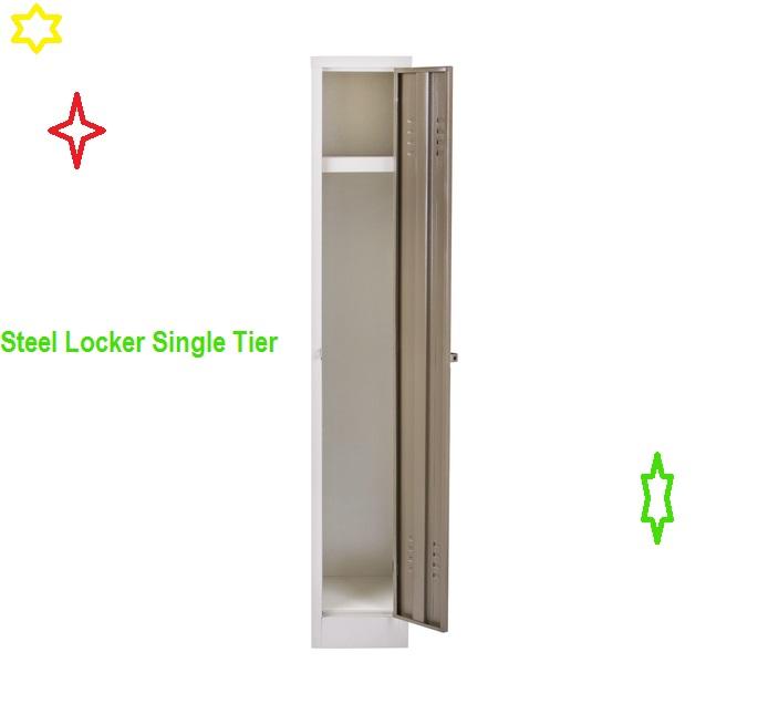 Steel locker single tier