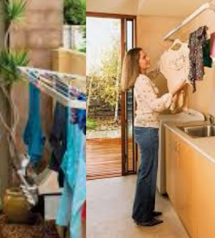 Indoor and Outdoor Aluminium Fold Up Wash Lines
