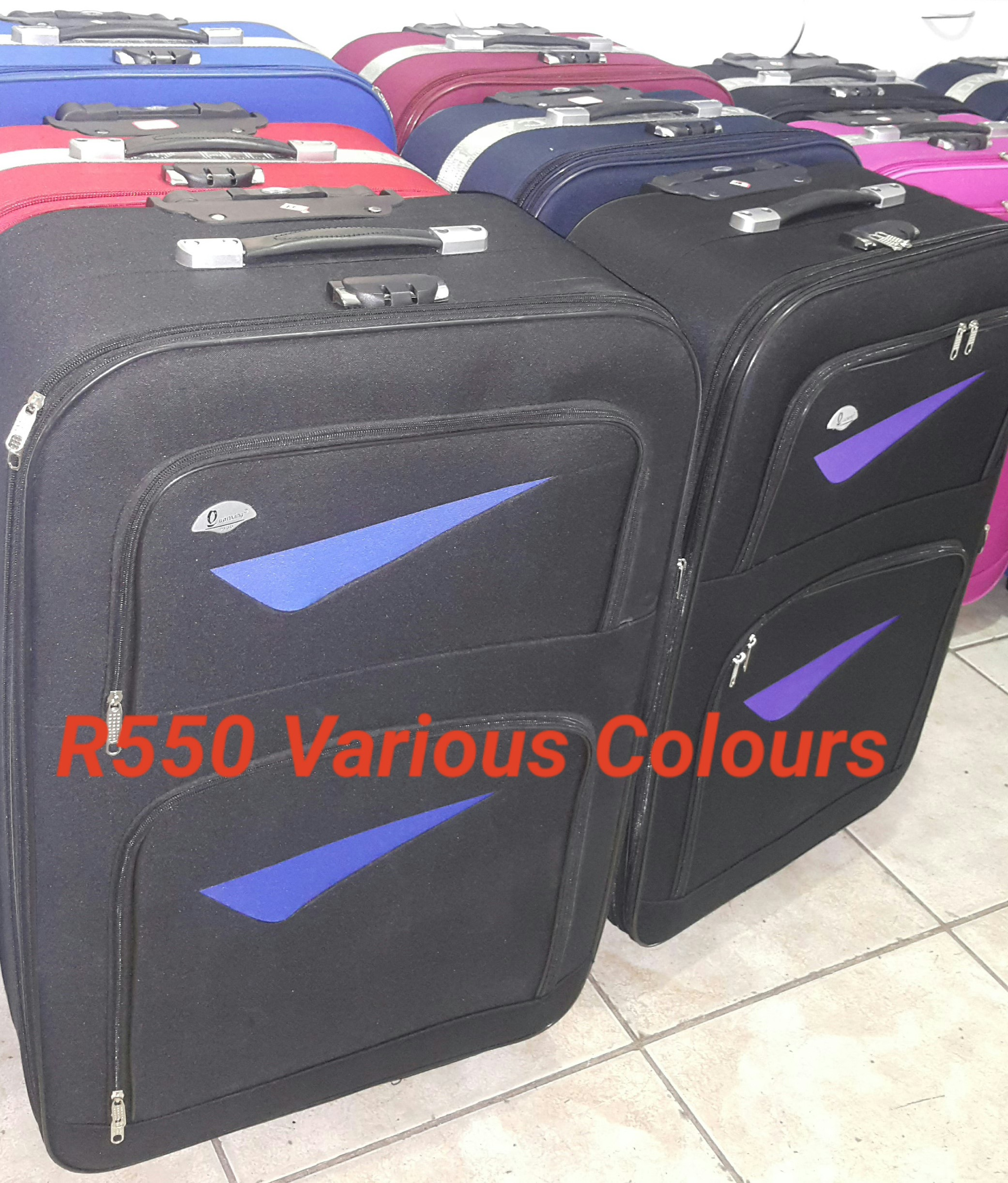 Various Colours in our R550 Luggage Bag Set for 3 Bags