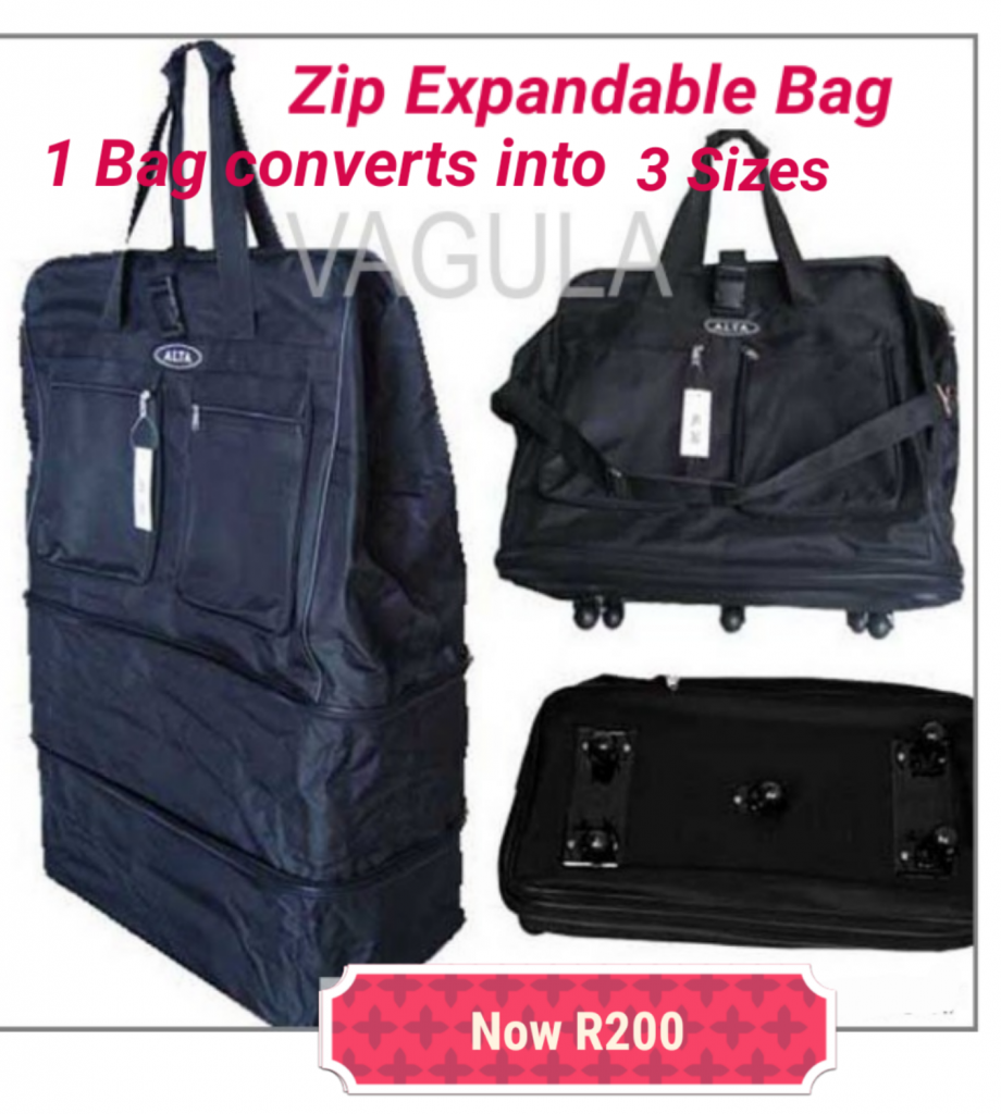 Zip Expandable Collapsible Bag