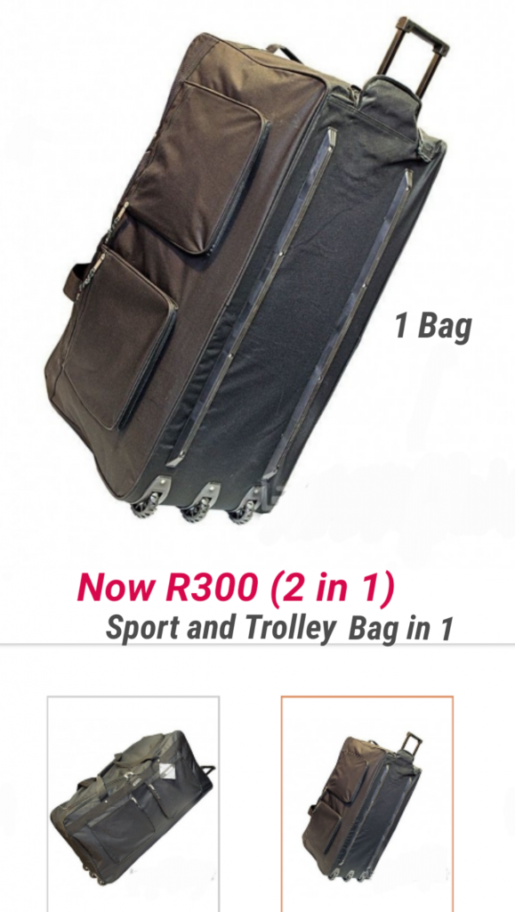 Sports Bag and Trolley Bag in 1 Bag