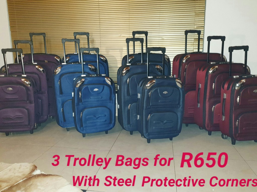 BCS Large Trolley Bags 3 for R650 with Steel Protective Corners