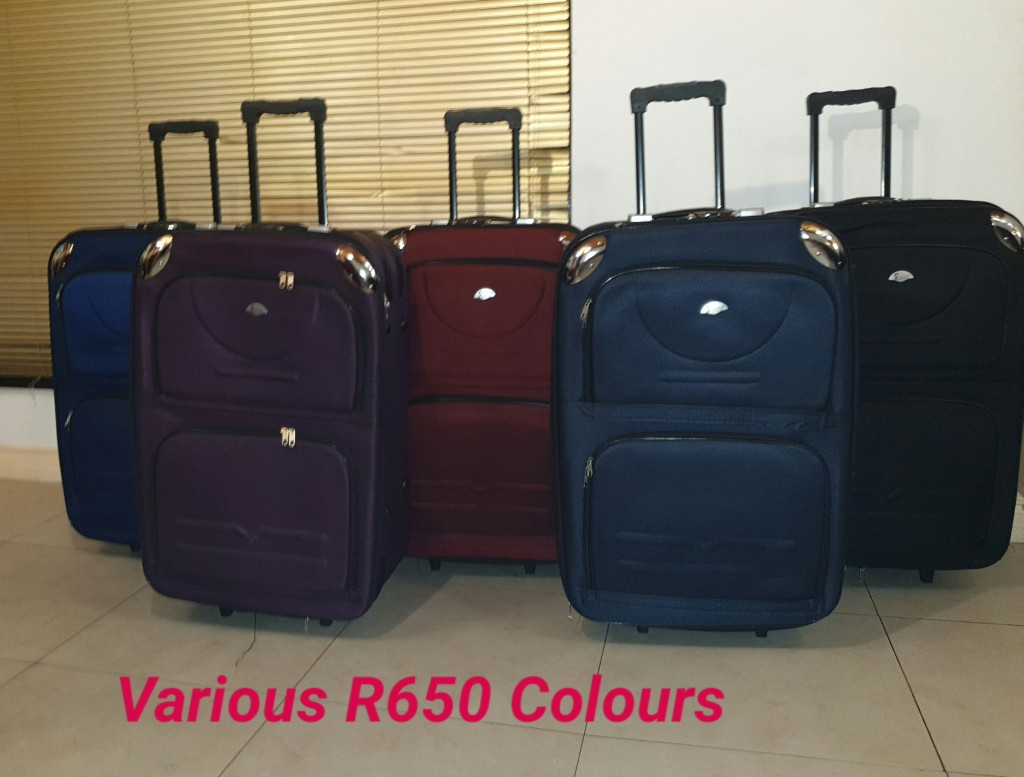 Various Colours of BCS Large Trolley Bags Sets of 3 for R650