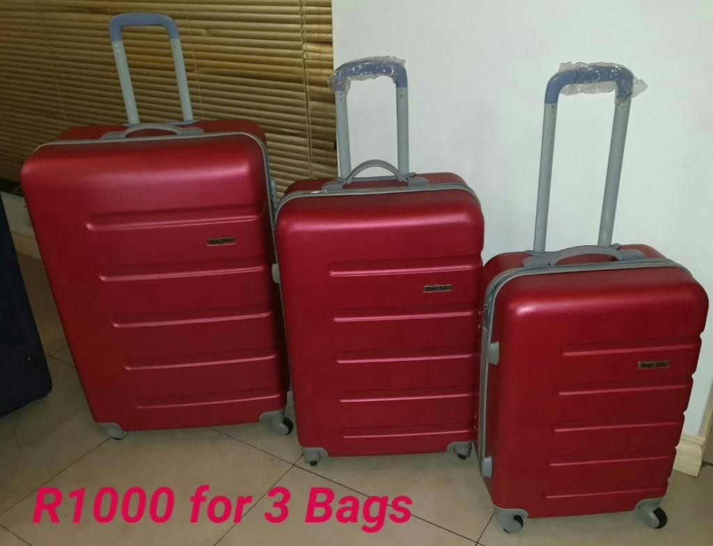 BCS Dark Red Hardshell Luggage Bags