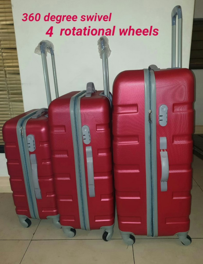 BCS Hardshell Luggage Trolley Bags