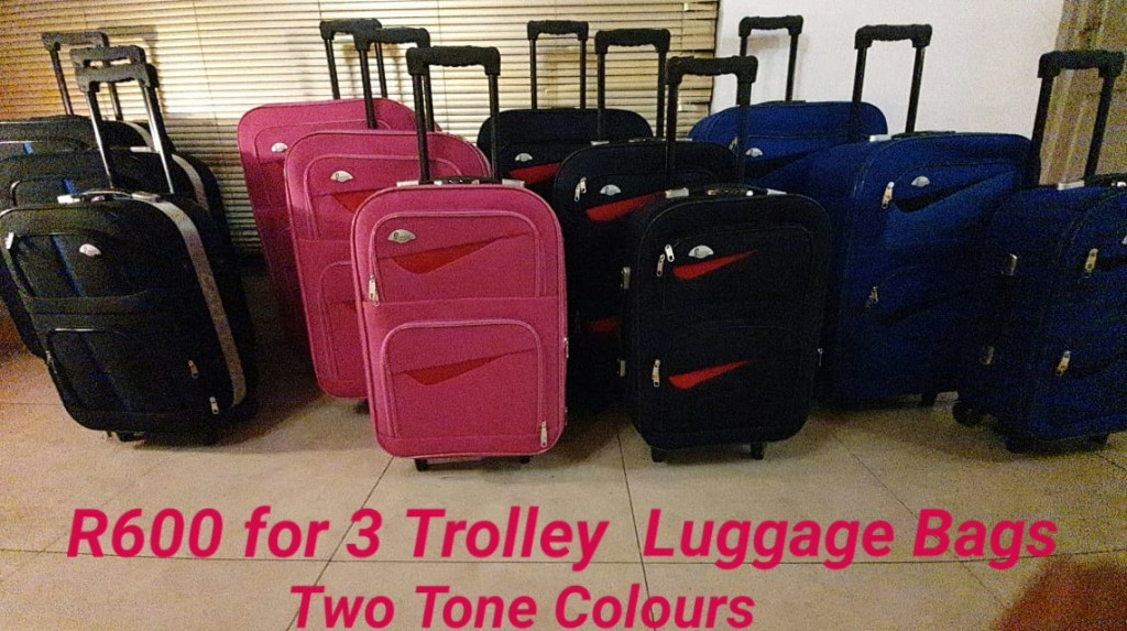 BCS Two Tone Colour Luggage Bags Now R600