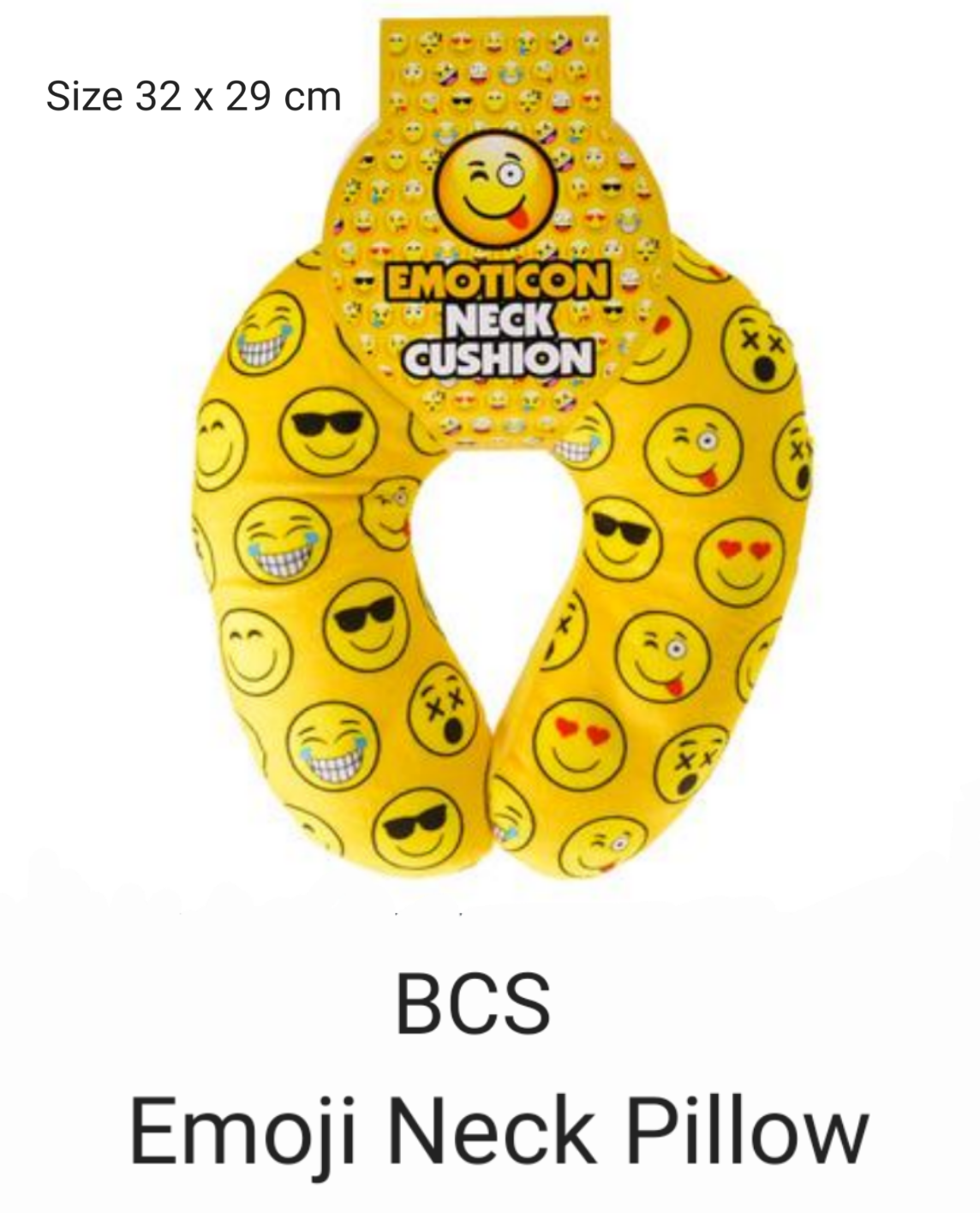 BCS Emoji Neck Pillow