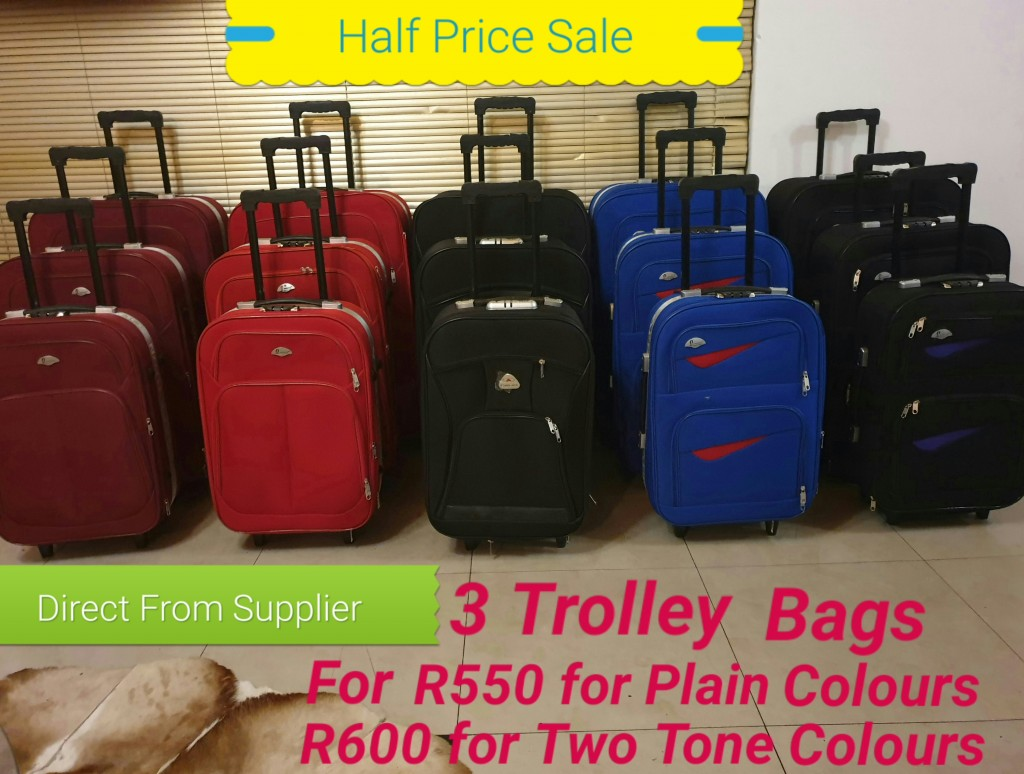 BCS Three Trolley Luggage Bags