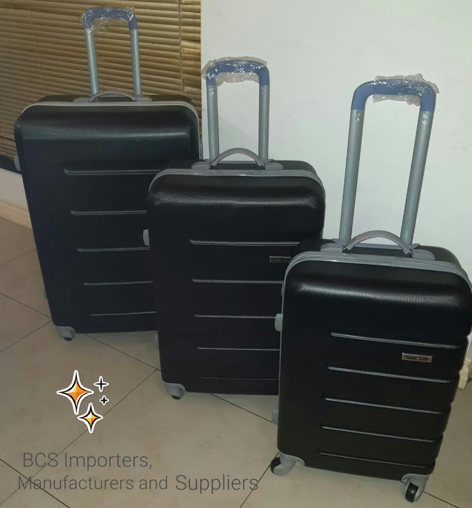 BCS Black Hardshell ABS Luggage Bags