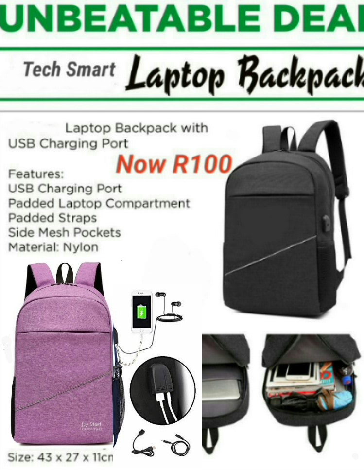 Tech Smart BCS Laptop Bags With USB Ports